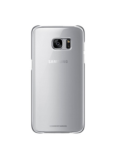 Samsung Samsung Galaxy S7 Clear Back Cover Orjinal Kılıf - Gümüş Ef-Qg930Csegww Renkli
